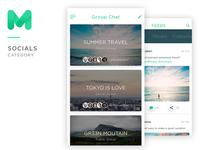 Mugen App Ui Kit Social travel template design iphone ios kit ui app mobile mugen