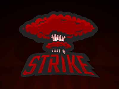 Esports logo - Strike vector illustration branding striking strike logo sport logo esport logo e-sport