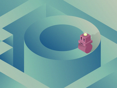Illustration made for an article iphone wallpaper gradients human robot isometric machine illustration