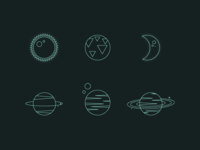 Line Icons | Planets