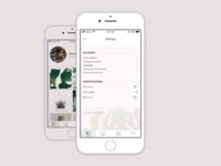 Settings for plant app