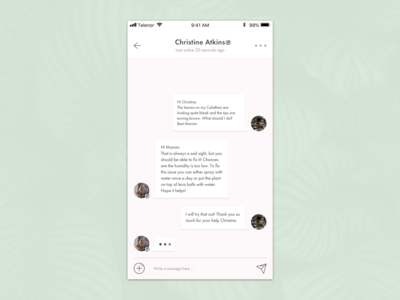 Direct Messaging for Plant App