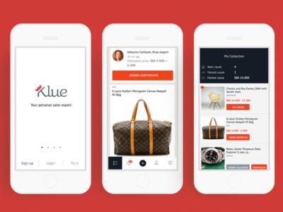 Klue mobile app
