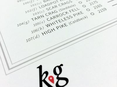 Carrock Fell typography map print kg photo logo infographic data viz