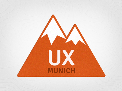 UX Munich Logo logo mountains alps munich ux