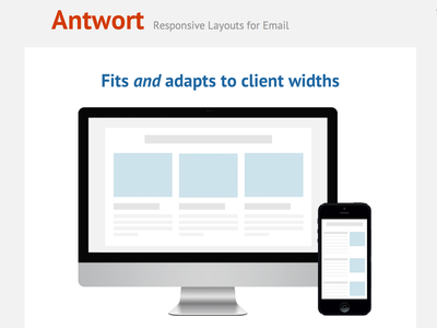 Antwort email responsive template