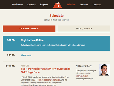 Conference Schedule Page uxmunich schedule responsive