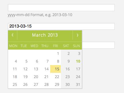 Datepicker datepicker html css pikaday javascript