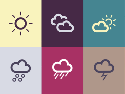 Weather vector icons weather