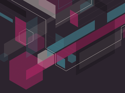 Homepage graphic cube hexagon illustration vector