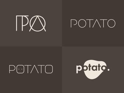 Ditched/rejected logo concepts logo potato