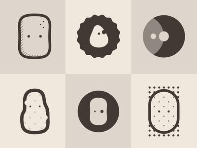 Ditched/rejected logo and mascot concepts mascot character logo potato