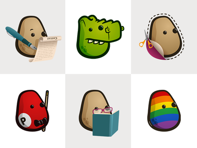 Mascot uses potato character mascot logo illustration vector