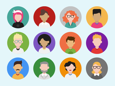 Profile avatars profile avatar illustration vector