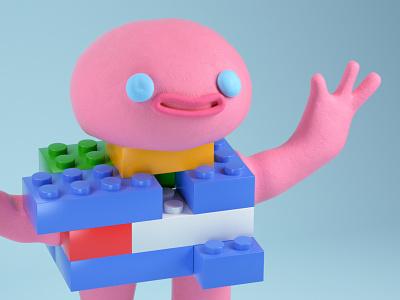 Lego Guy plasticine effect ricard badia animade animation 3d model modelling cinema4d lego