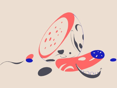 #IllustrationFriday melon beanpod cucumber sketch drawing alex lund fruit and veg illustration animation animade