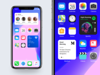 iOS 14 - 3rd Party Widgets file file manager stories ios14 apple design ios widgets app design blog medium music player spotify instagram dropbox design application ux ui apple app