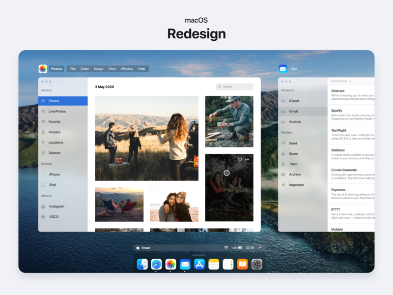 macOS Redesign app design design app notification mail photos big sur apple design macbook desktop redesign ux ui operating system apple mac macos