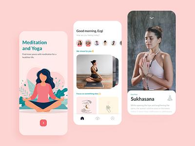 Meditation & Yoga App youth app design meditations yoga pose video education application app uxui ux ui lifestyle sport streaming course course app yoga app meditation app yoga meditation