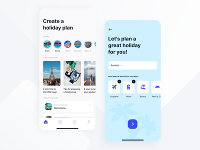 Concept Travel App to Plan Your Holiday ux tour plan tour blog car rental rent rent a car reservation hotel reservation hotel flight ticket application holiday app travel app app design design app travel holiday ui