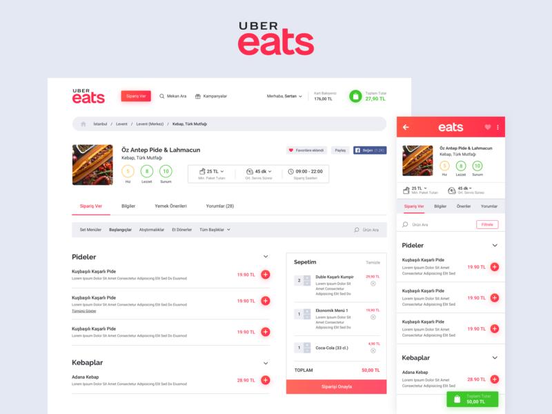 Uber Eats - Order Food Online food ordering app food order food and drink app design web desgin food app ui food app food uber design ubereats uber ux app ui