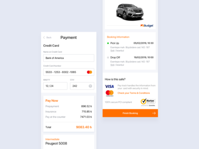Car Rental Payment System - Web & Mobile