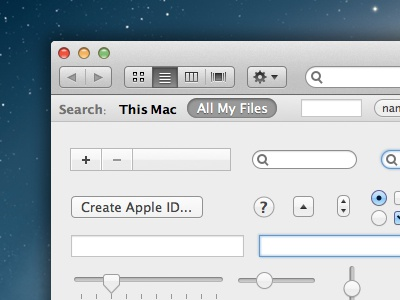 Free Mountain Lion UI Kit for Sketch mountain lion ui kit mac os x free sketch