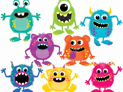 Clipart Fluffy Monsters