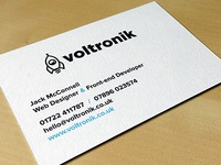 Voltronik Business Cards - Back