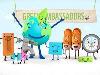 WWF Green Ambassadors animation characters climate change green