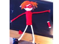 Cut&Paste Superhero Puppet Stage 3