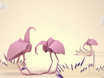 Keep Calm Television Commercial london design fred and eric flamingo animation commercial keep calm origami 3d
