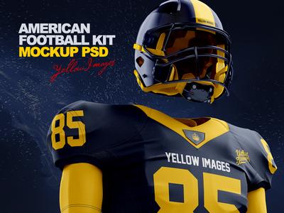 American Football Kit Mockup PSD