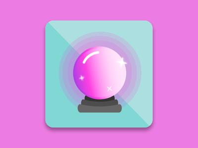 Daily UI 005 - App Icon app icon app crystal ball magical mystical ui design ui daily ui 005 daily ui