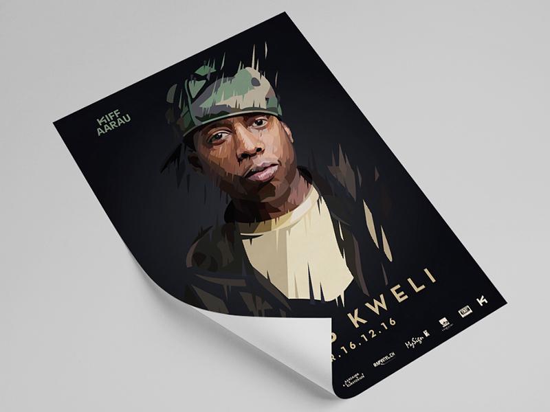 Kiff Poster print illustration mock up man portrait talib kweli rap concert poster design graphic design poster
