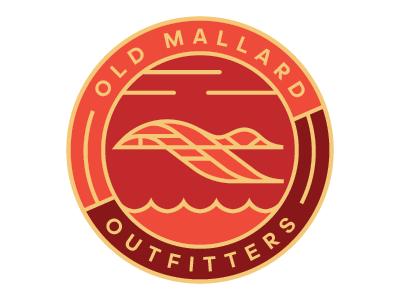 Old Mallard Patch Concept mallard pin identity mark logo branding patch