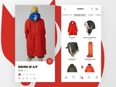 Outdoor clothing and equipment store app - Fjällräven