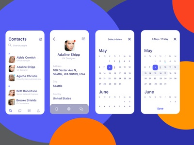 Mobile app dashboard concept