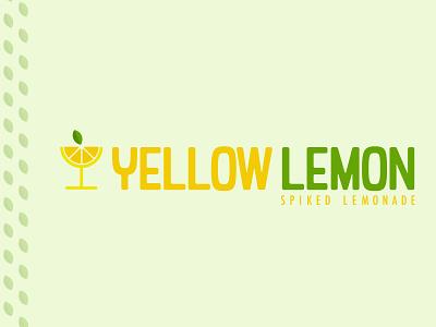 Yellow Lemon - Spiked Lemonade beach sun heat summer bright illustration branding design adobe illustrator logo garner drink lime fun lemonade stand challenge lemon