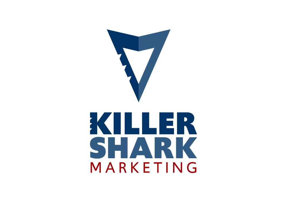 Killer Shark Marketing Logo Concept logo adobe illustrator garner sharktooth bite tooth marketing shark