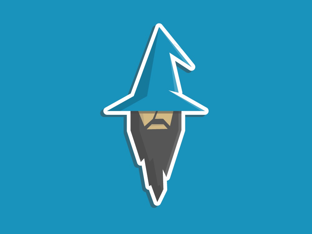 Wizard Logo Concept branding vector design illustration sticker beard garner logodesign adobe illustrator hat magic wizard logo