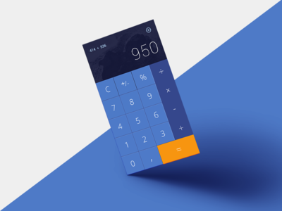 DailyUI #004 - Calculator numbers calculator app 004 dailyui daily ux ui design