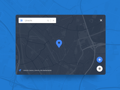 dailyUI #020 - Location Tracker kaliber daily search ui google maps design ux dailyui location tracker