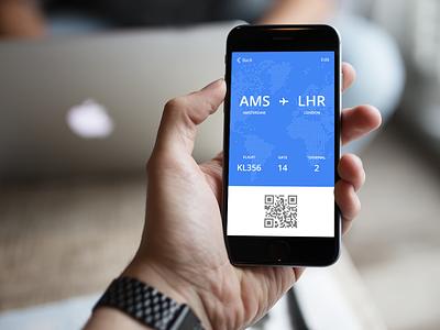 dailyUI #024 - Boarding Pass kaliber boarding phone flight 024 daily ui ux dailyui boarding pass