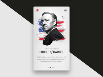 dailyUI #025 - TV App frank underwood 025 daily ui ux house of cards netflix app tv dailyui