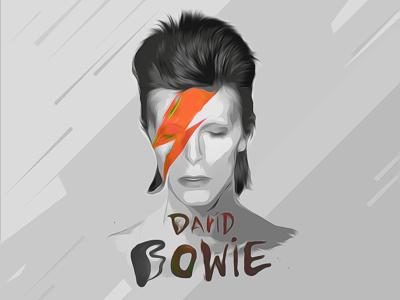 David Bowie illustration fanart rip davidbowie ziggystardust stardust ziggy bowie david