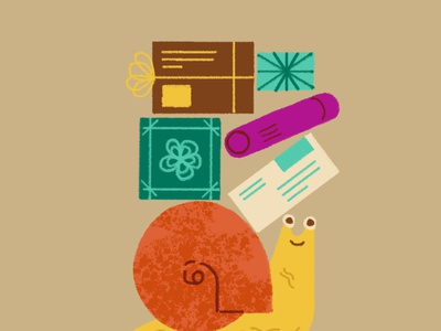 Snail Mail snail mail animals illustration