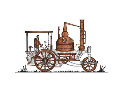 Copper Truck Illustration