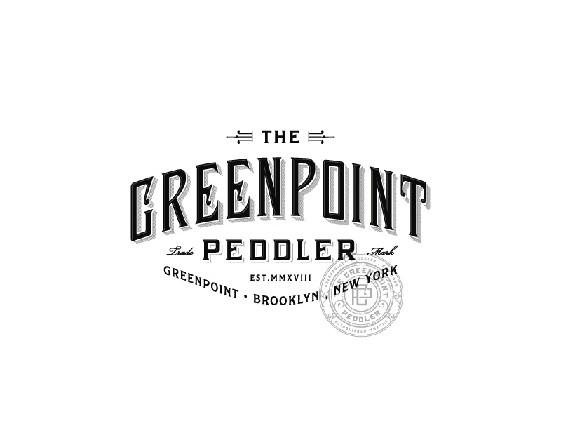 Greenpoint Peddler Lettering typography brooklyn art-deco luxury sophisticated vintage