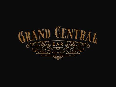 Grand Central Bar design logo bar victorian art-deco luxury sophisticated vintage